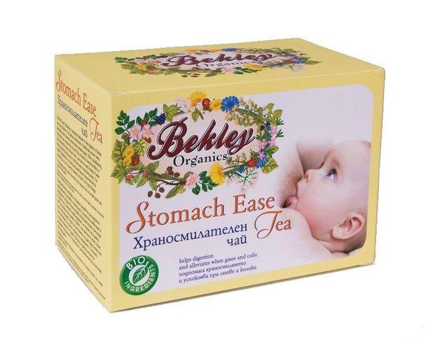 Bekley Organics  Био бебешки чай за лесно храносмилане и намаляване на коликите, 20 x 1.5 г.